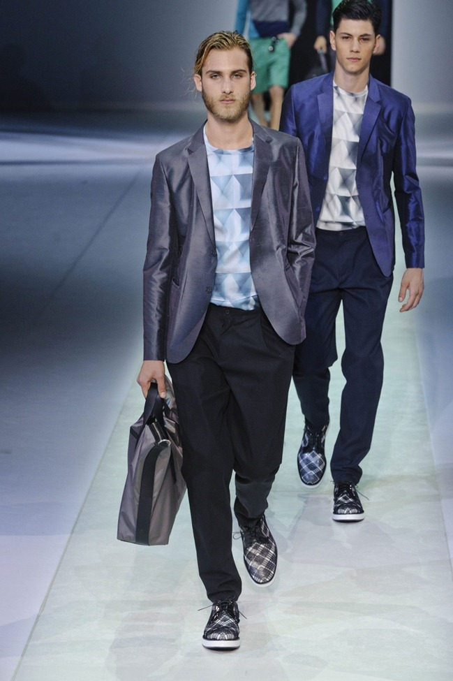 MILAN FASHION WEEK Emporio Armani Men's RTW Spring 2014. www.imageamplified.com, Image Amplified (1)