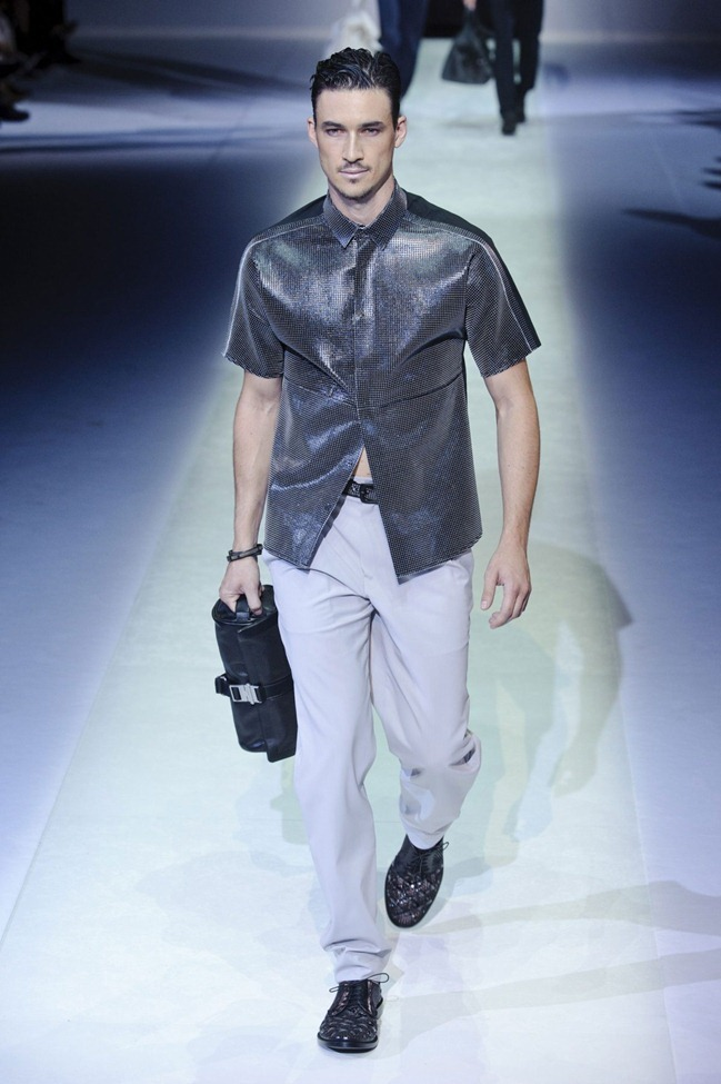 MILAN FASHION WEEK Emporio Armani Men's RTW Spring 2014. www.imageamplified.com, Image Amplified (88)