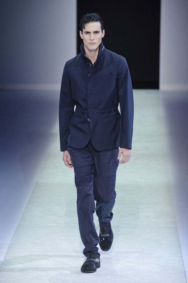 MILAN FASHION WEEK Emporio Armani Men's RTW Spring 2014. www.imageamplified.com, Image Amplified (90)
