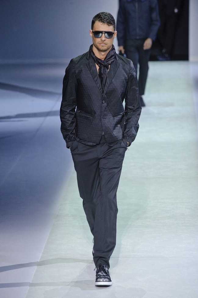 MILAN FASHION WEEK Emporio Armani Men's RTW Spring 2014. www.imageamplified.com, Image Amplified (91)