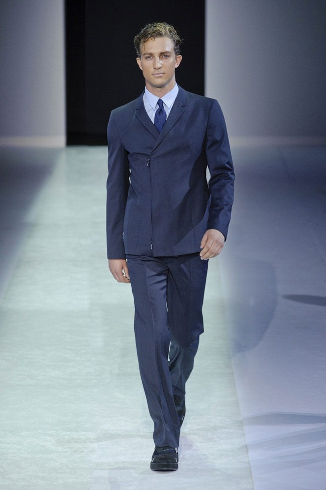 MILAN FASHION WEEK Emporio Armani Men's RTW Spring 2014. www.imageamplified.com, Image Amplified (114)
