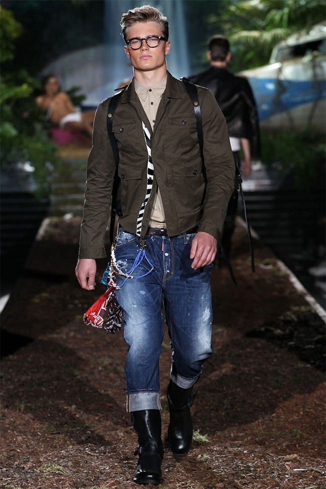 MILAN FASHION WEEK Dsquared² Men's RTW Spring 2014. www.imageamplified.com, Image Amplified (6)