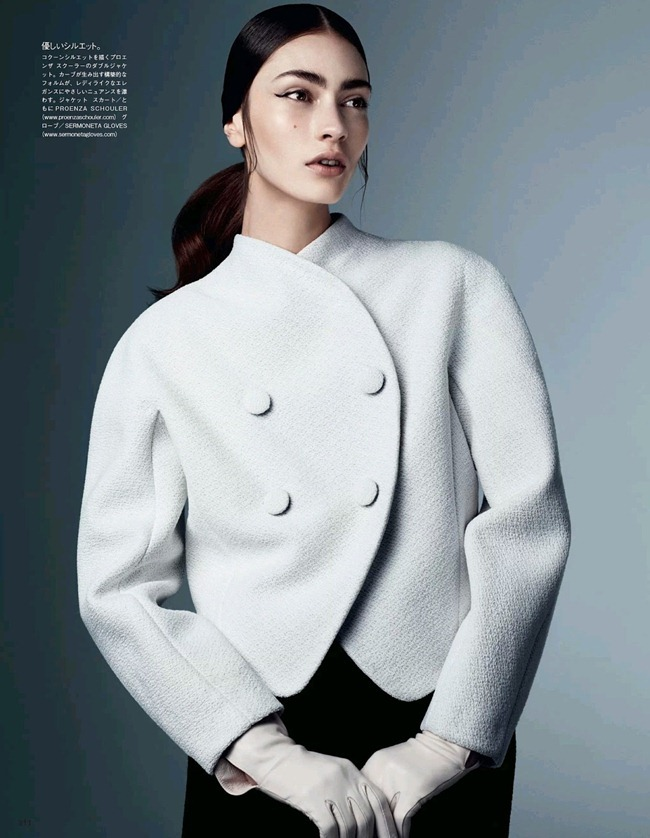 VOGUE JAPAN- Marine Deleeuw in Dressing In Black And White by Steven Pan. Vanessa Traina, August 2013, www.imageamplified.com, Image Amplified (6)