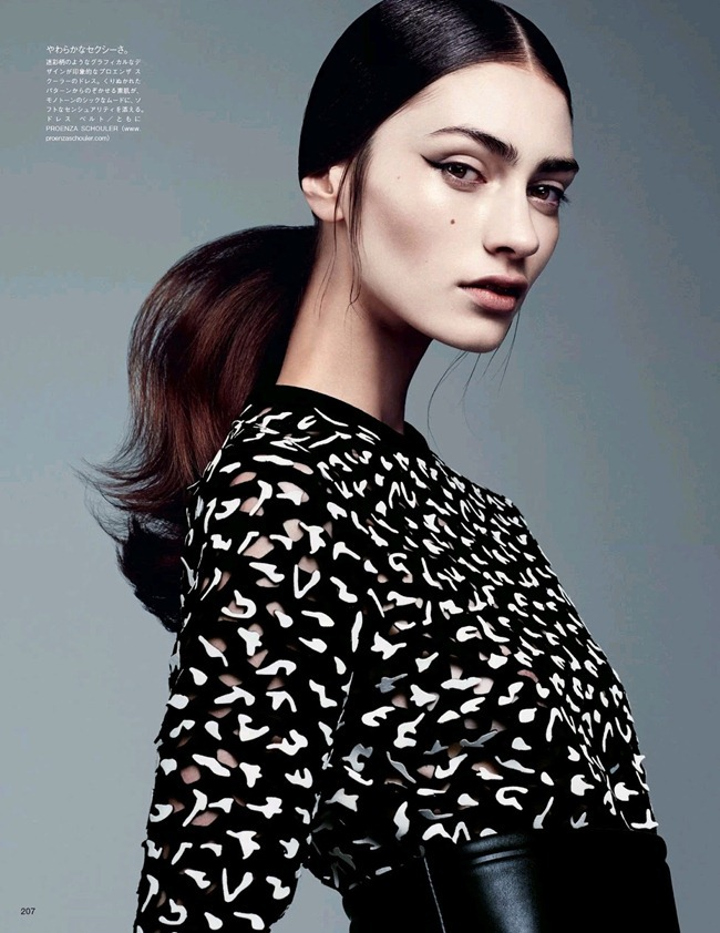 VOGUE JAPAN- Marine Deleeuw in Dressing In Black And White by Steven Pan. Vanessa Traina, August 2013, www.imageamplified.com, Image Amplified (2)