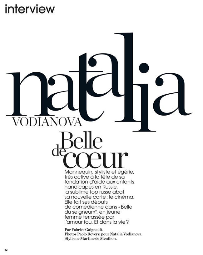MARIE CLAIRE FRANCE- Natalia Vodianova in Belle de Coeur by Paolo Roversi. Martine de menthon, August 2013, www.imageamplified.com, Image Amplified (1)