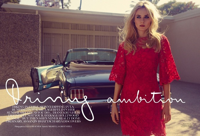 MARIE CLAIRE UK- Diane Kruger in Driving Ambition by David Roemer. Arabella Greenhill, August 2013, www.imageamplified.com, Image Amplified (1)