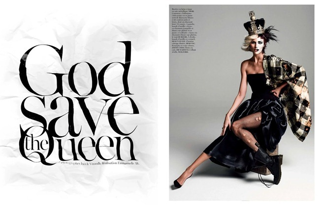 VOGUE PARIS- Anja Rubik in God Save the Queen by Inez & Vinoodh. Emmanuelle Alt, August 2013, www.imageamplified.com, Image Amplified