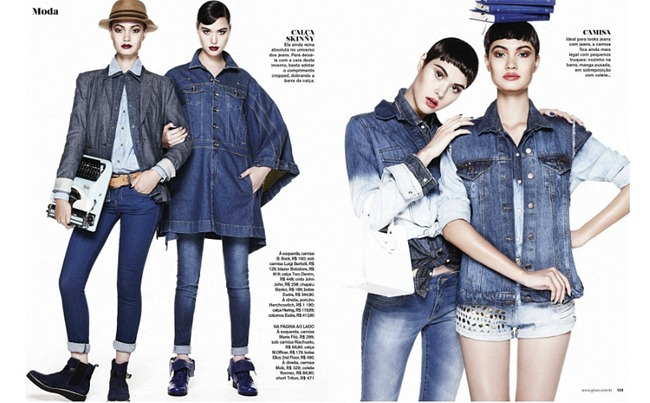 GLOSS MAGAZINE- Angelica Erthal & Debora Wagatsuma in Sweet Jeans by Paschoal Rodrigues. July 2013, www.imageamplified.com, Image Amplified (2)