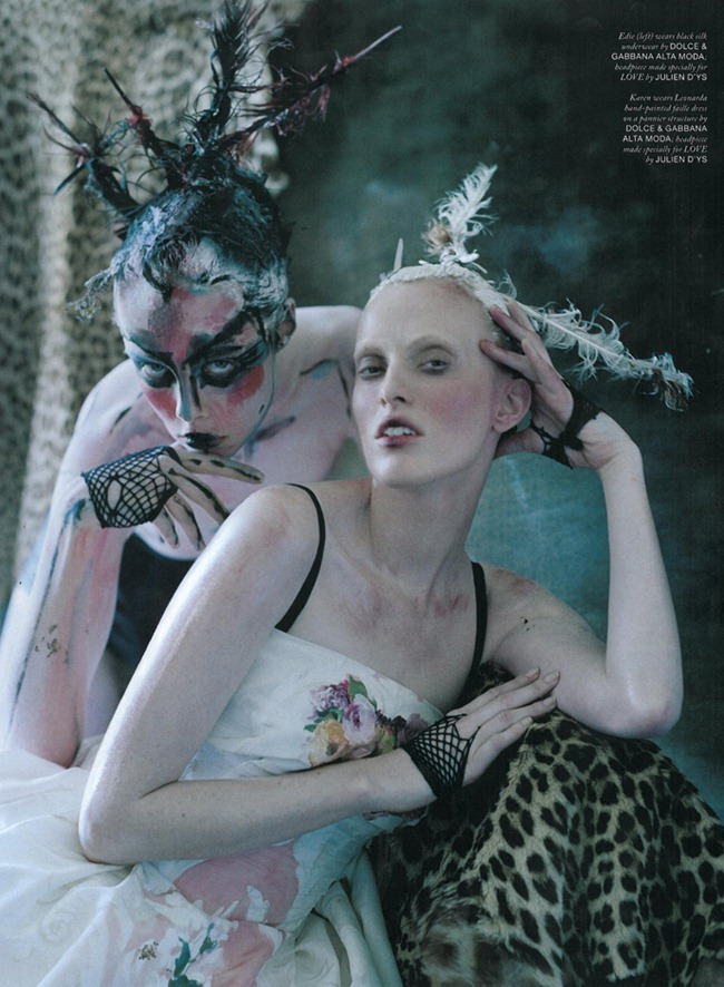 LOVE MAGAZINE- Edie Campbell, Karen Elson & Atlas in Atlas The Lion by Tim Walker. Katie Grand, Fall 2013, www.imageamplified.com, Image Amplified (9)