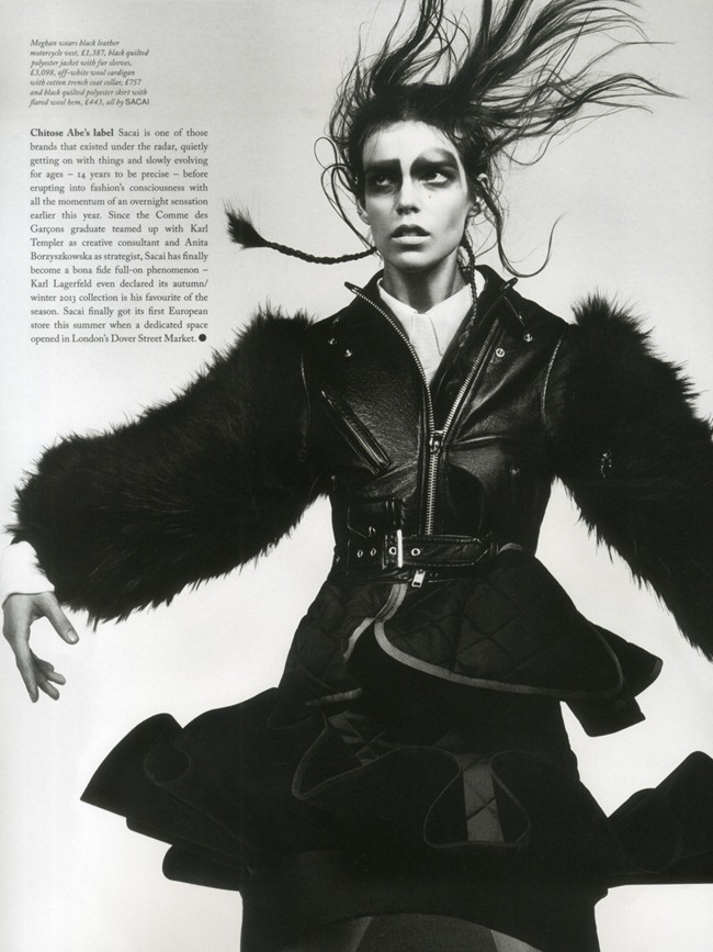 LOVE MAGAZINE- Meghan Collison in Sacai by Craig McDean. Karl Templer, Fall 2013, www.imageamplified.com, Image Amplified