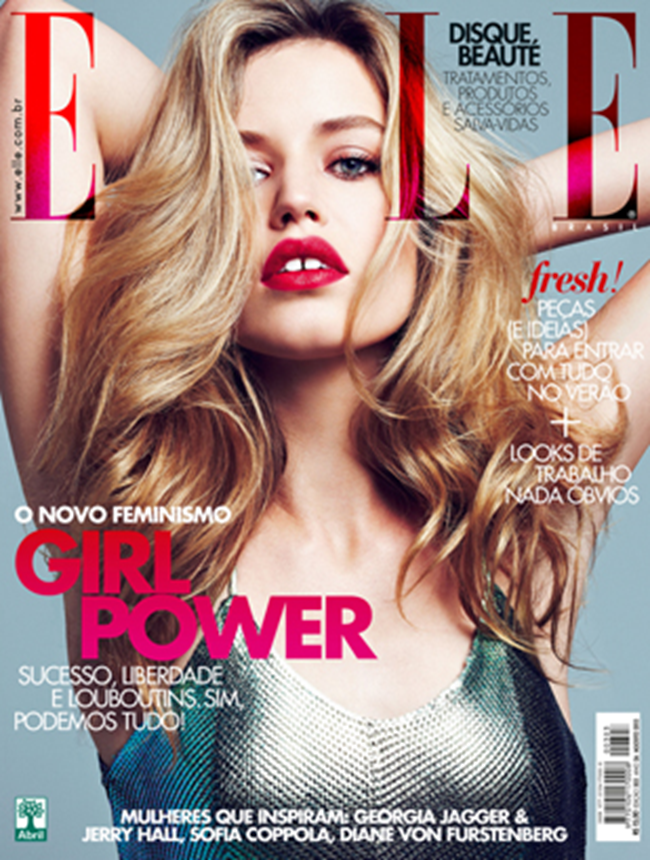 ELLE BRAZIL- Georgia May Jagger & Jerry Hall in DNA Fashion by Max Abadian. Rita Lazzarotti, August 2013, www.imageamplified.com, Image Amplified