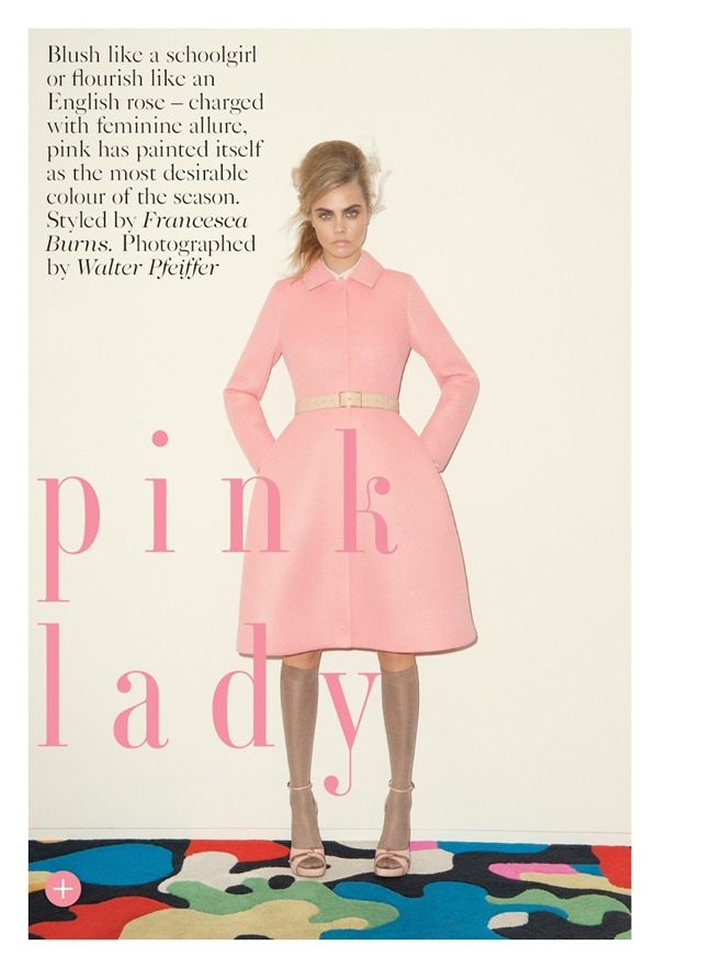 VOGUE UK- Cara Delevigne in Pink Lady by Walter Pfeiffer. Francesca Burns, September 2013, www.imageamplified.com, Image Amplified