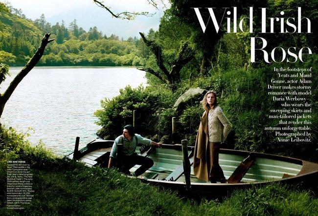 VOGUE MAGAZINE- Daria Werbowy & Adam Driver in Wild Irish Rose by Annie Leibovitz. Grace Coddington, September 2013, www.imageamplified.com, Image Amplified (7)