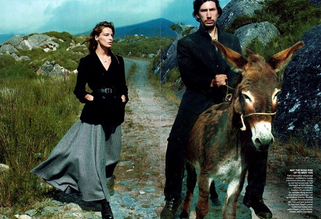 VOGUE MAGAZINE- Daria Werbowy & Adam Driver in Wild Irish Rose by Annie Leibovitz. Grace Coddington, September 2013, www.imageamplified.com, Image Amplified (3)
