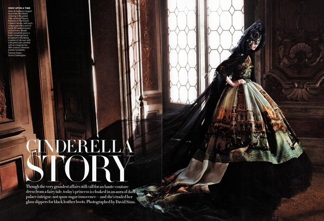 VOGUE MAGAZINE- Edie Campbell in Cinderella Story by David Sims. Grace Coddington, September 2013, www.imageamplified.com, Image Amplified