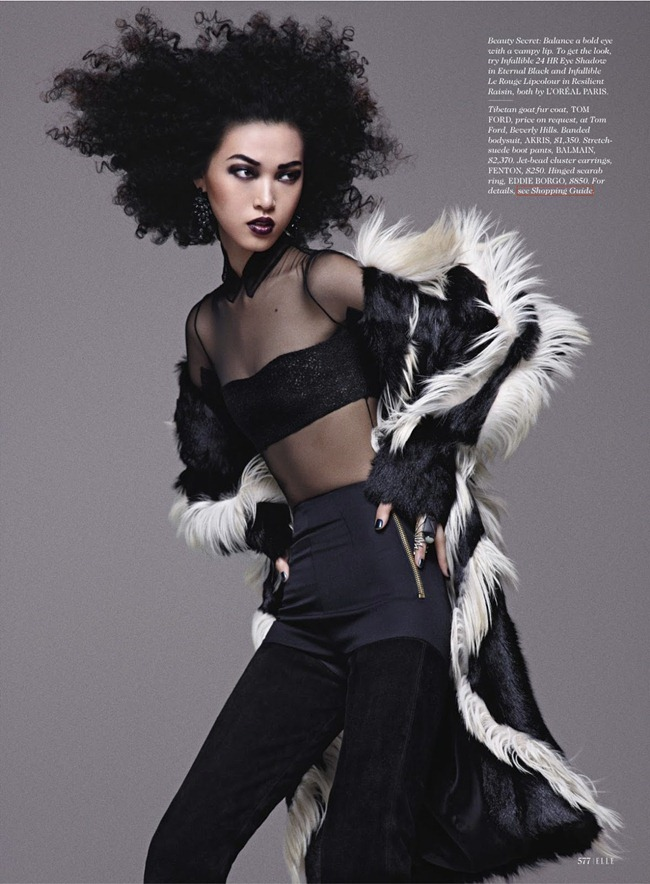 ELLE MAGAZINE- Tian Yi in Wild Thing by Txema yeste. Lori Goldstein, September 2013, www.imageamplified.com, Image Amplified (6)