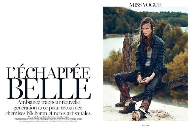 VOGUE PARIS- Kasia Struss in L'echappee Belle by Lachlan Bailey. Geraldine Saglio, September 2013, www.imageamplified.com, Image Amplified