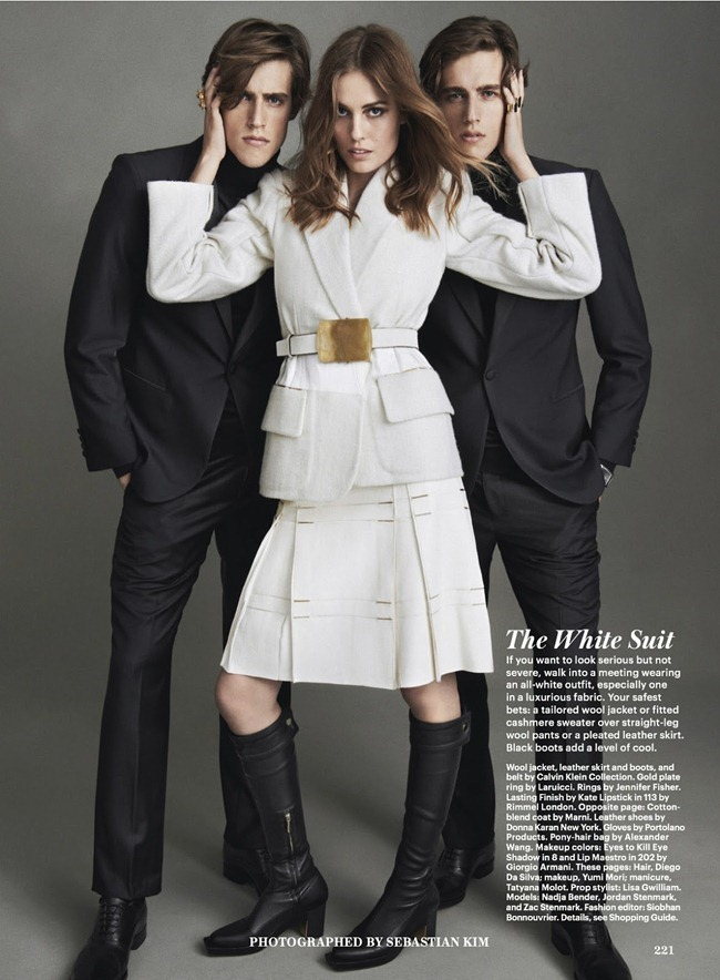ALLURE MAGAZINE- Nadja Bender, Jordan Stenmark & Zac Stenmark in How To Be Stylish by Sebastian Kim. Siobhan Bonnouvrier, September 2013, www.imageamplified.com, Image Amplified (1)