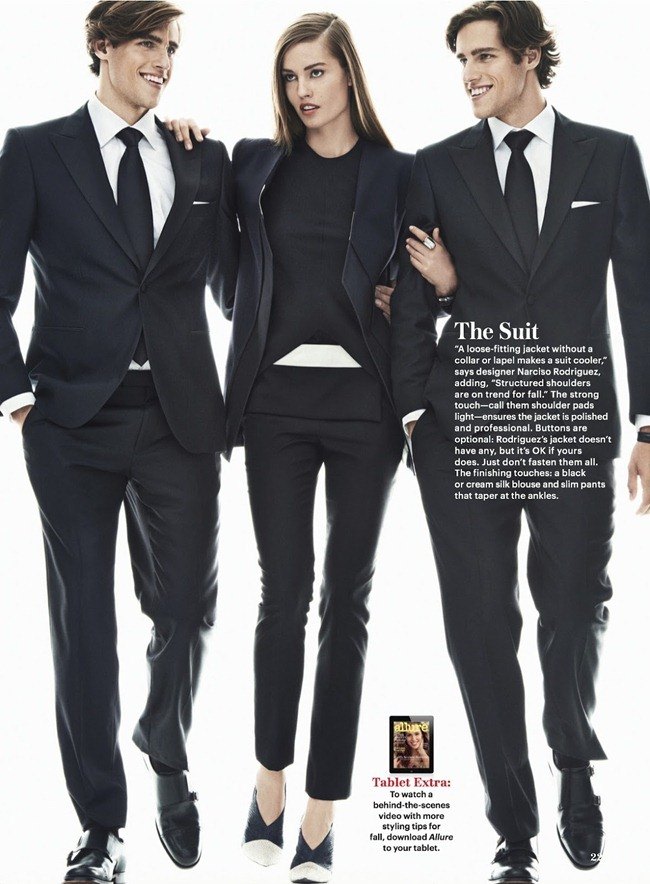 ALLURE MAGAZINE- Nadja Bender, Jordan Stenmark & Zac Stenmark in How To Be Stylish by Sebastian Kim. Siobhan Bonnouvrier, September 2013, www.imageamplified.com, Image Amplified (4)