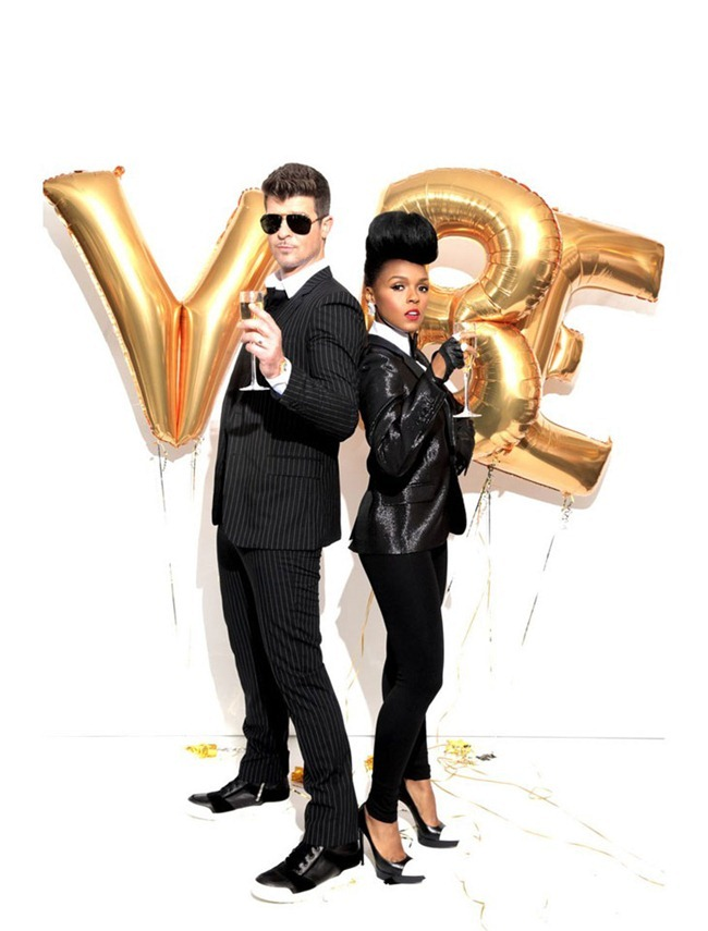 VIBE MAGAZINE- Janelle Monae & Robin Thicke by Kareem Black. www.imageamplified.com, Image Amplified (2)