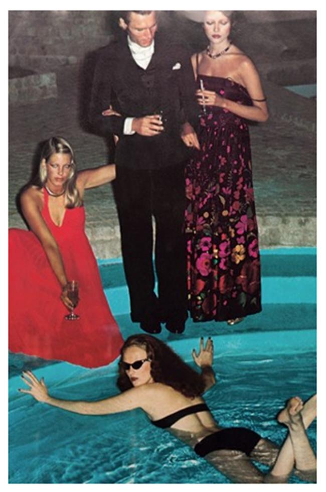 WE ♥ GRACE CODDINGTON- Grace Coddington in Pool, 1973 by Helmut Newton. www.imageampilfied.com, Image Amplified