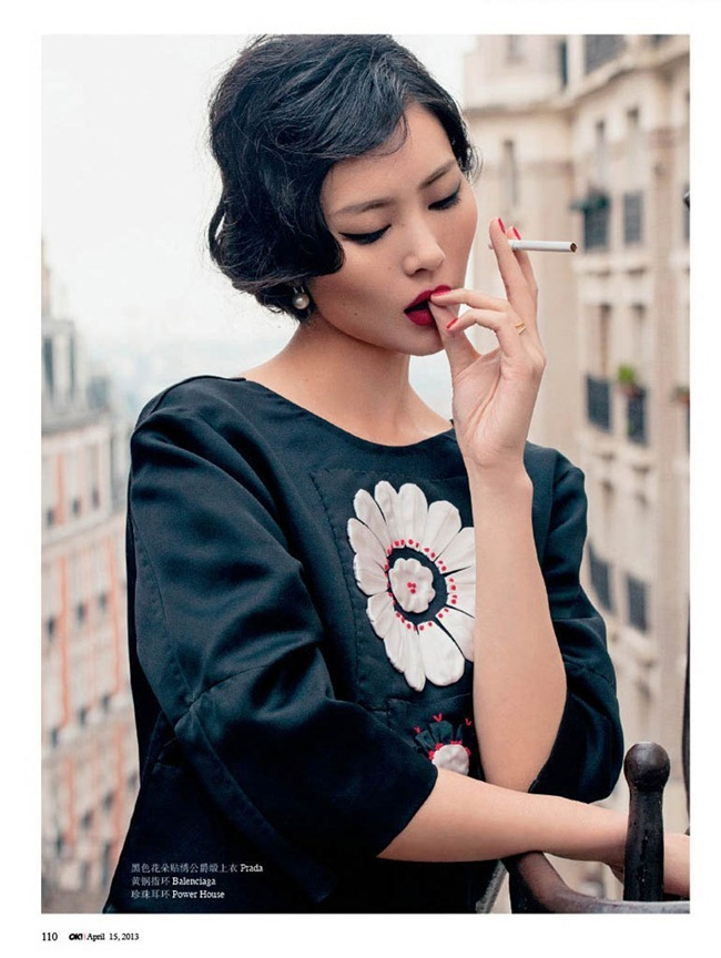 OK! CHINA- Liu Wen in Girl with Pearl Earrings by Jumbo Tsui. April 2013, www.imageamplified.com, Image Amplified (1)