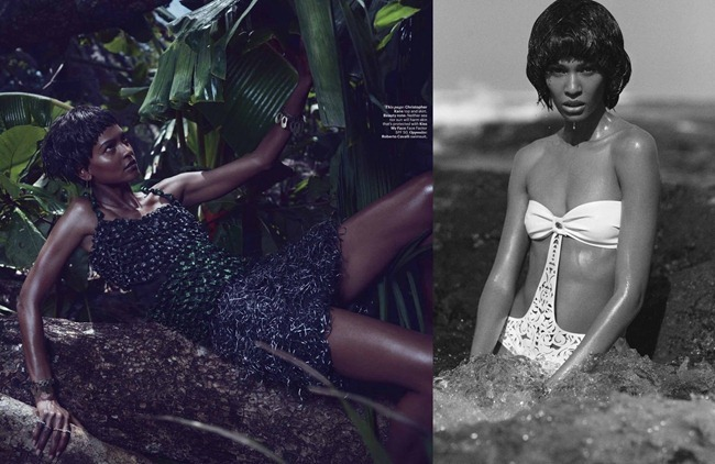 W MAGAZINE- Joan Smalls & Liya Kebede in Survival Of The Chicest by Mikael Jansson. Edward Enninful, July 2013, www.imageamplified.com, Image Amplified (1)