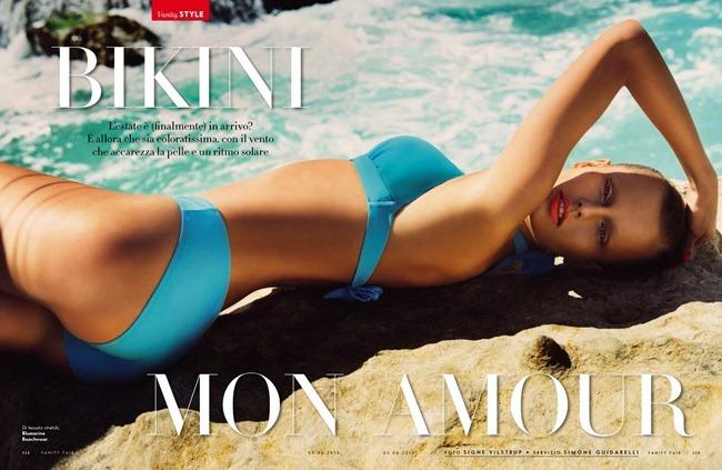 VANITY FAIR ITALIA- Natallia Krauchanka in Bikini Mon Amour by Signe Vilstrup. Simone Guidarelli, June 2013, www.imageamplified.com, Image Amplified