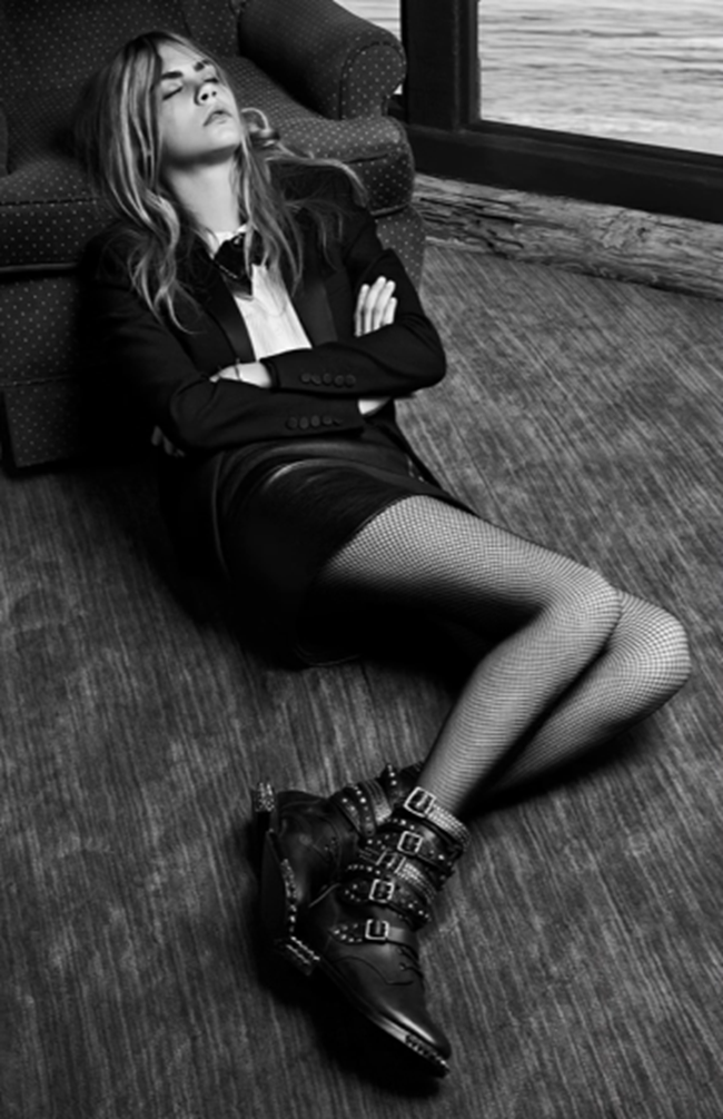 CAMPAIGN- Cara Delevigne & Cole Smith for Saint Laurent Fall 2013 by Hedi Slimane. www.imageamplified.com, Image Amplified (9)
