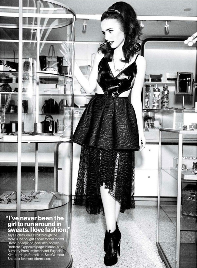 """glamour magazine: lily collins in """"shhh here comes lily"""" by, Attraktive mobel"""