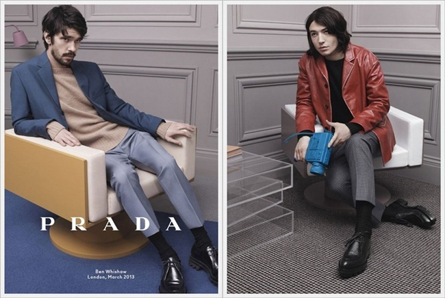 CAMPAIGN Christoph Waltz, Ben Whishaw & Ezra Miller for Prada Fall 2013 by David Sims. www.imageamplified.com, Image Amplified (4)