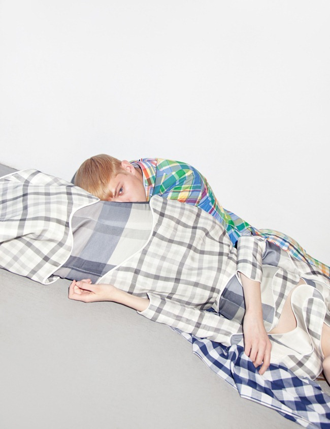 METAL MAGAZINE Sebastiain Sauve in Thom Browne by Charlie Engman. Spring 2013, www.imageamplified.com, Image Amplified (6)