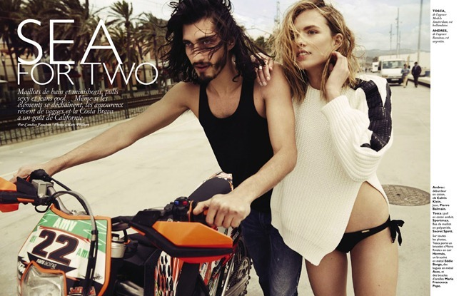 GRAZIA FRANCE- Tosca Dekker & Andres Risso in Sea for Two by Marc Philbert. Candice Fauchon, June 2013, www.imageamplified.com, Image Amplified