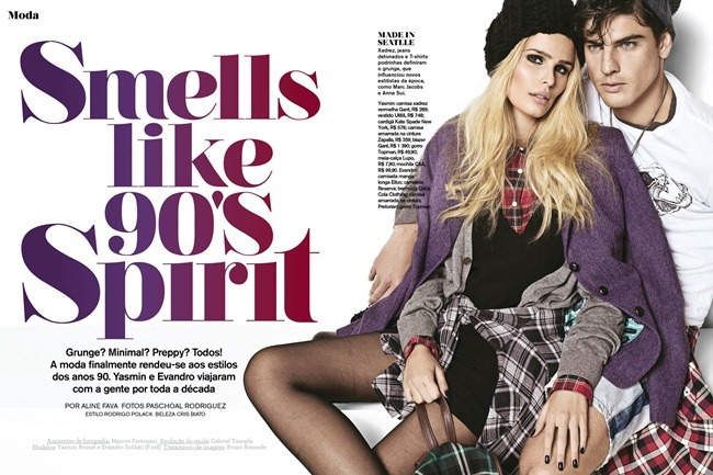 GLOSS MAGAZINE Yasmin Brunet & Evandro Soldati in Smells like 90's Spirit by Paschoal Rodriguez. Rodrigo Polack, www.imageamplified.com, Image Amplified (1)