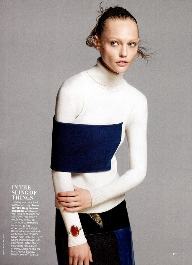 VOGUE MAGAZINE Sasha Pivovarova in A Sporting Chance by David Sims. Camila Nickerson, July 2013, www.imageamplified.com, Image Amplified (1)