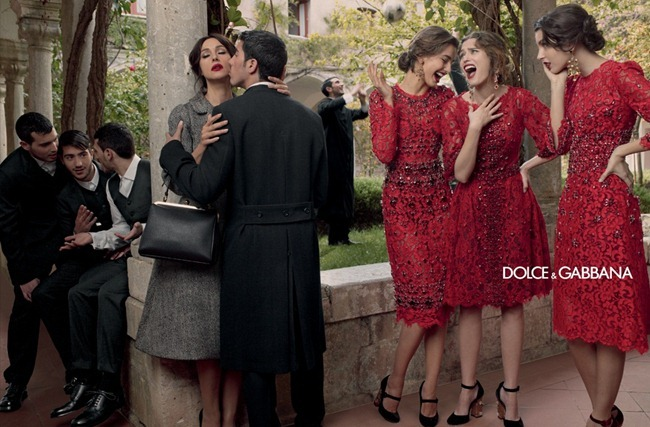 CAMPAIGN- Andreea Diaconu, Bianca Balti, Kate King & Monica Bellucci for Dolce & Gabbana Fall 2013 by Domenico Dolce. www.imageamplified.com, Image Amplified
