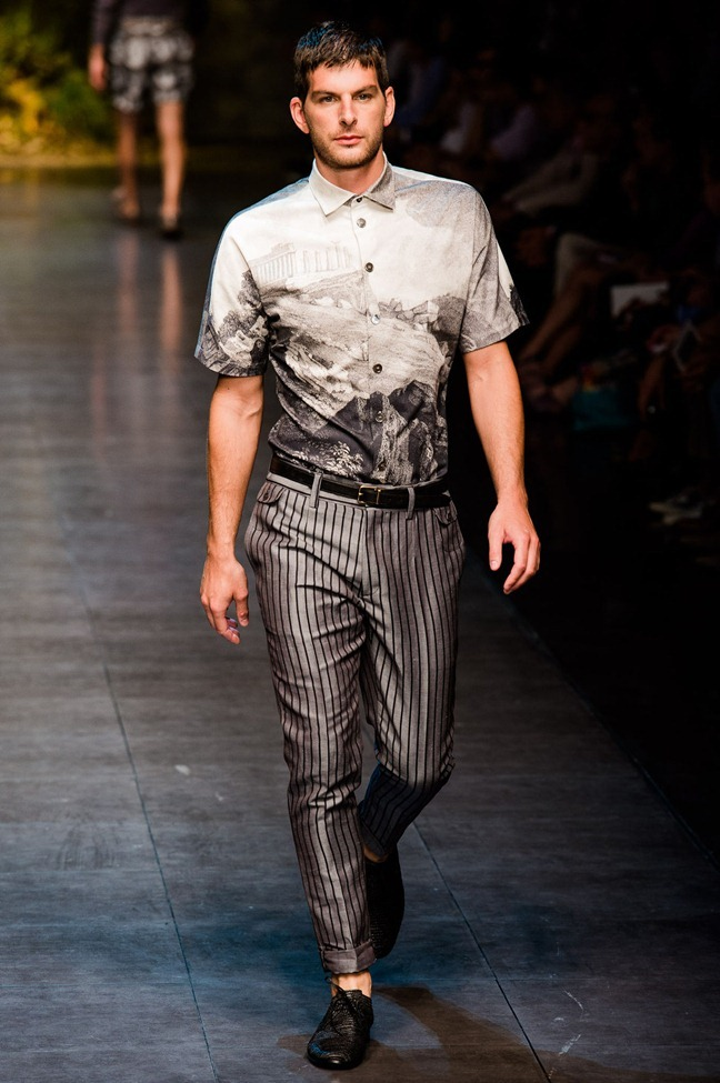 MILAN FASHION WEEK- Dolce & Gabbana Men's RTW Spring 2014. www.imageamplified.com, Image Amplified (34)