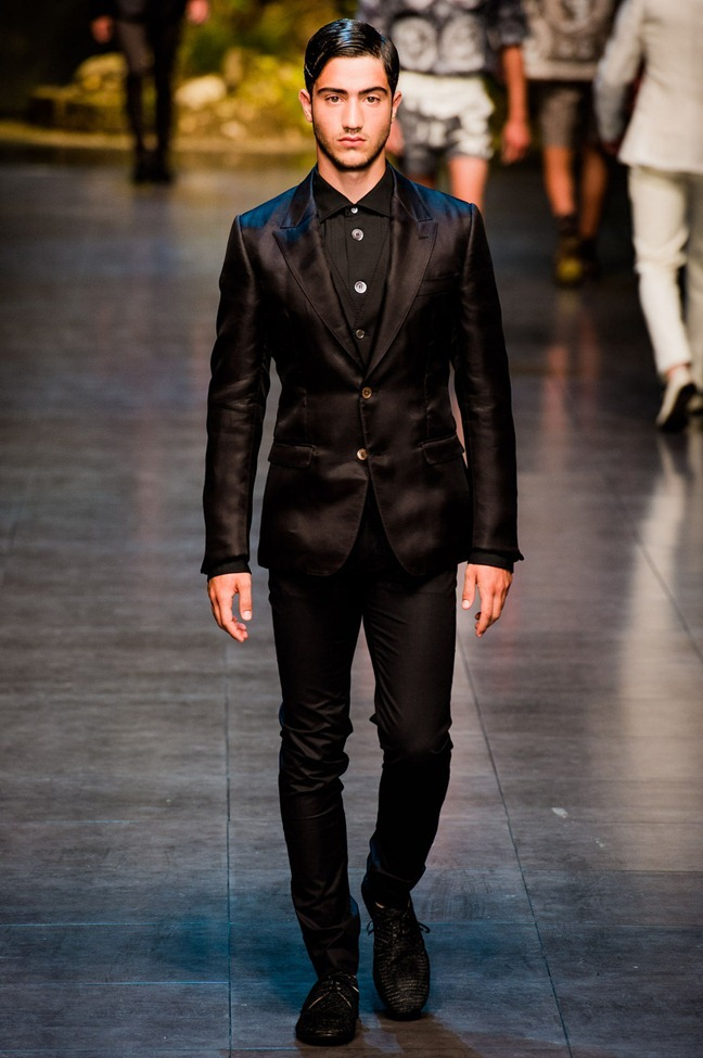 MILAN FASHION WEEK- Dolce & Gabbana Men's RTW Spring 2014. www.imageamplified.com, Image Amplified (9)
