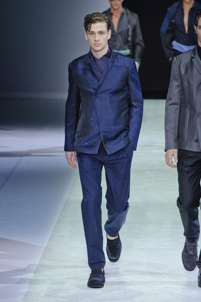 MILAN FASHION WEEK Emporio Armani Men's RTW Spring 2014. www.imageamplified.com, Image Amplified (6)