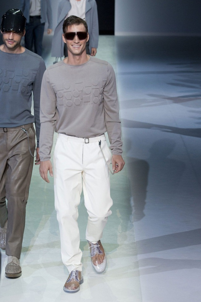 MILAN FASHION WEEK Emporio Armani Men's RTW Spring 2014. www.imageamplified.com, Image Amplified (9)