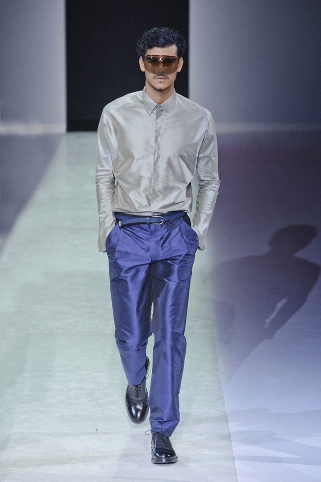 MILAN FASHION WEEK Emporio Armani Men's RTW Spring 2014. www.imageamplified.com, Image Amplified (54)