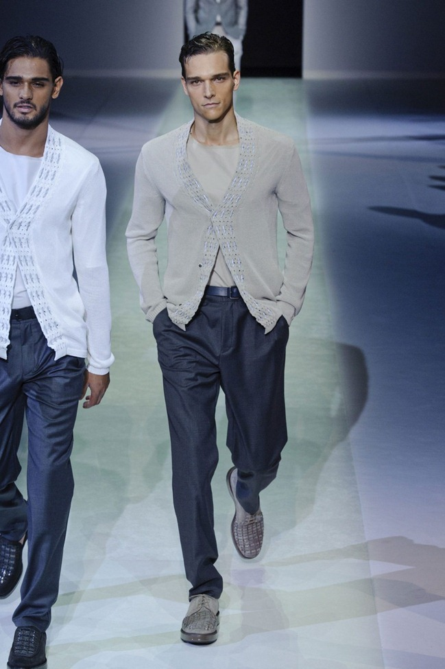 MILAN FASHION WEEK Emporio Armani Men's RTW Spring 2014. www.imageamplified.com, Image Amplified (60)