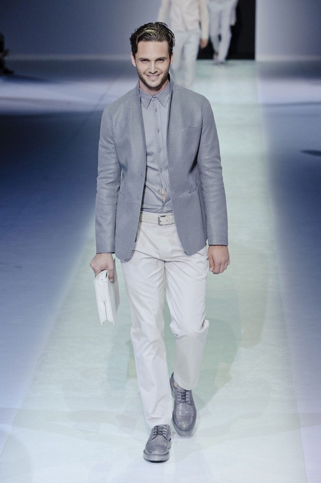 MILAN FASHION WEEK Emporio Armani Men's RTW Spring 2014. www.imageamplified.com, Image Amplified (84)