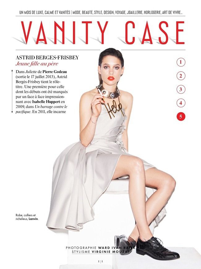 VANITY FAIR FRANCE Astrid Berges-Frisbey in VAnity Case by Ward Ivan RAfik. Virginie Mouzat, July 2013, www.imageamplified.com, Image Amplified (4)