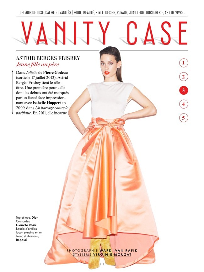 VANITY FAIR FRANCE Astrid Berges-Frisbey in VAnity Case by Ward Ivan RAfik. Virginie Mouzat, July 2013, www.imageamplified.com, Image Amplified (1)