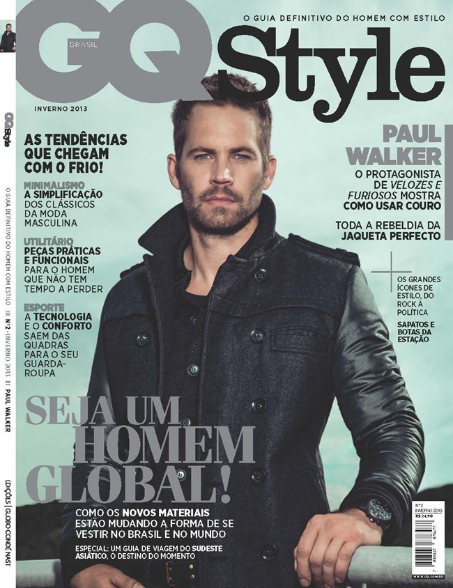 GQ STYLE BRASIL- Paul Walker in God Speed Rodrigo Marques. Antonio Branco, Fall 2013, www.imageamplified.com, Image Amplified