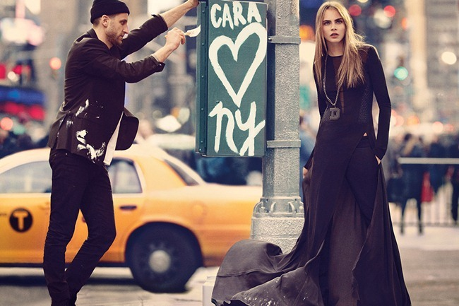 CAMPAIGN Cara Delevigne for DKNY Fall 2013. www.imageamplified.com, Image Amplified (3)