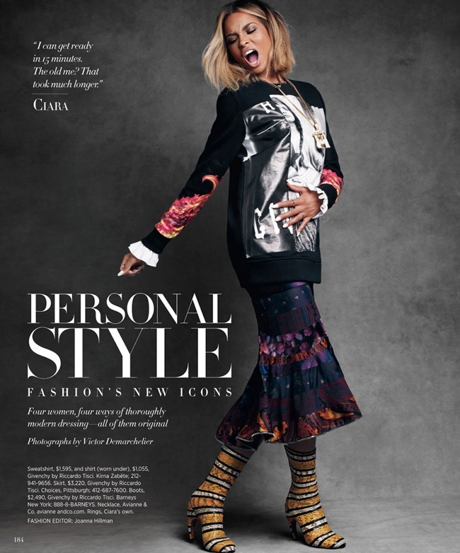 HARPER'S BAZAAR MAGAZINE- Personal Style by Victor Demarchelier. Joanna Hillman, August 2013, www.imageamplified.com, Image amplified