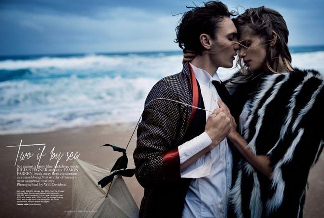 VOGUE AUSTRALIA- Julia Stegner & Eamon Farren in Two if By Sea by Will Davidson. Jillian Davidson, August 2013, www.imageamplified.com, Image Amplified