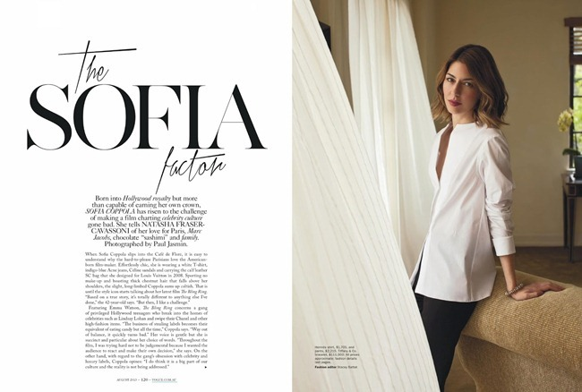 VOGUE AUSTRALIA Sofia Coppola in The Sofia FActor by Paul Jasmin. Stacey Battat, August 2013, www.imageamplified.com, Image Amplified (2)